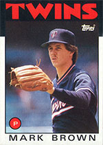 Mark Brown 1985 Topps Card