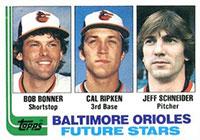 Bobby Bonner rookie baseball card