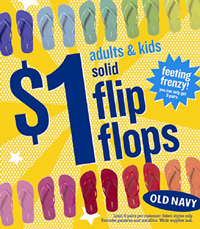 One dollar flip flops