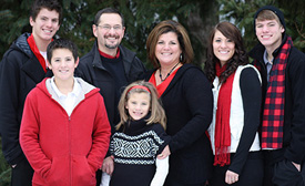 Missionary Dan Jalowiec and family