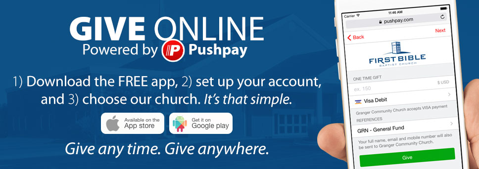 Use the free app to give online.