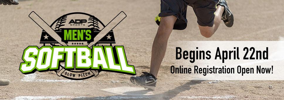 Register for Men's Softball